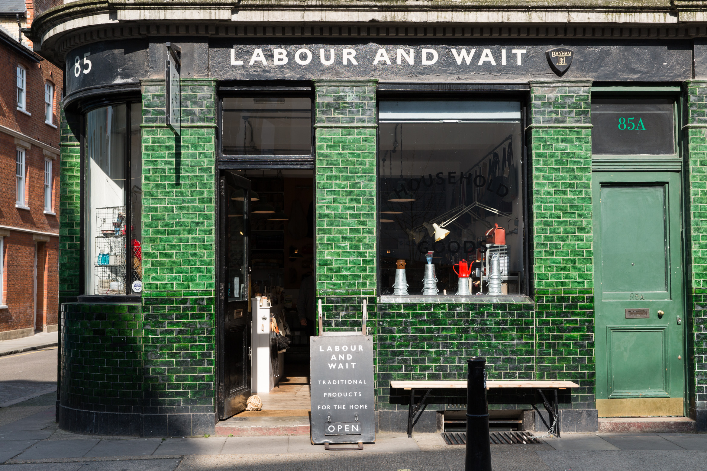 Labour and Wait general store in London